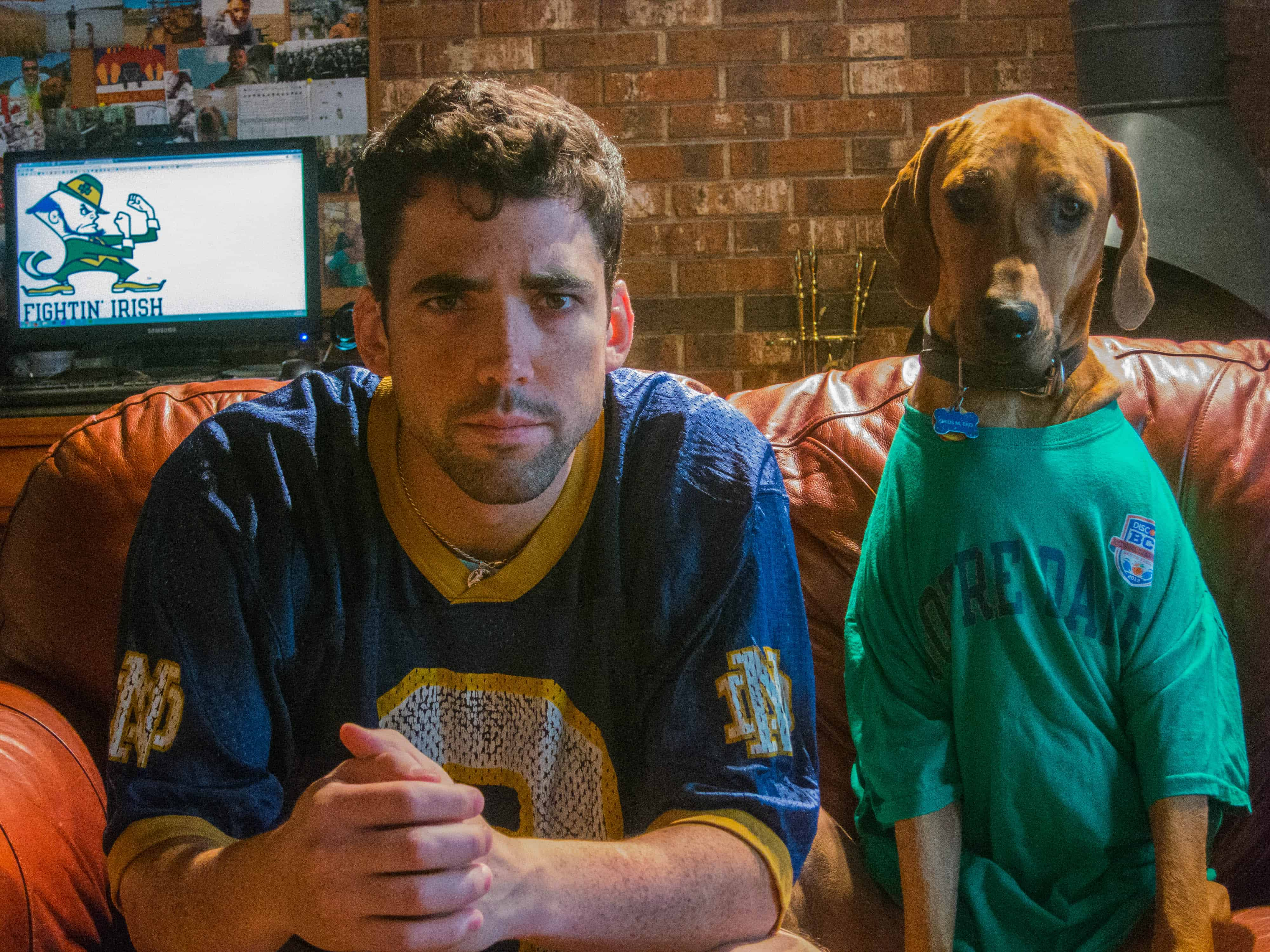 Notre Dame Football, Rhodesian Ridgeback, dog adventure, funny, marking our territory, petcentric